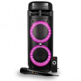 Enceinte Autonome FestiSound SFX 206 LED - USB/SD/BT + Micro et Télécomande-Batterie 3 600 mAh