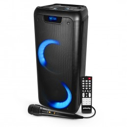 Enceinte Autonome sur Batterie 300 Watts -  USB SD Bluetooth - Micro filaire - 2x Boomer 16cm à LED RVB