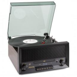 """Tourne Disque Vintage FENTON 33/45/78 Trs CD/USB/BT-Disque 7"""" 10 """" 12"""""""