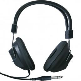 Casque Stéreo Réglable avec oreillettes rembourrée- Jack 6.35mm Cordon 1.7m