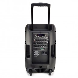"Enceinte Pro Portative 12"" 350/700W - Audio Club MOOV12 - USB BT Line FM - Batterie - 2 Micros UHF + Support PIED"