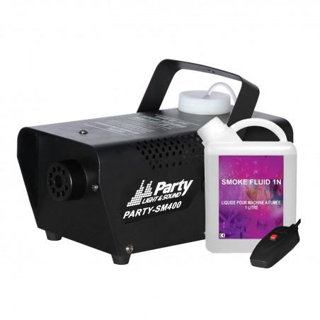 Machine à fumée SM400 W avec télécommande et liquide
