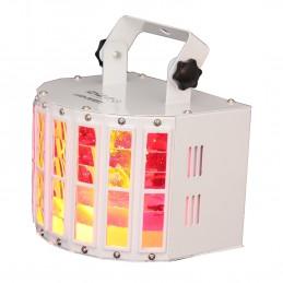 Jeu de lumière Ibiza light LED-DERBY à 8 canaux DMX - 2 LED RGBW de 10W chacune