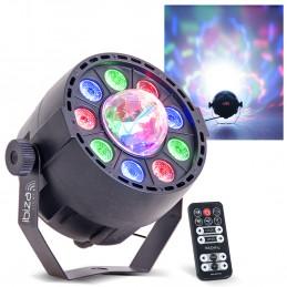 Jeu de lumière PAR-ASTRO 2 en 1 projecteur PAR + ASTRO - LED DMX 12W