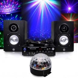 Pack karaoké complet 150W + Boule Astro LED RVB