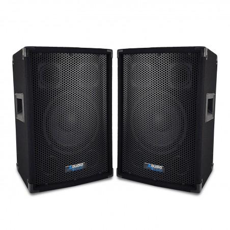 """Pair of speakers Sound Bass Reflex Trapezoidal 3-way 8 """"/ 20cm - 2 x 300W - AUDIO CLUB 08"""