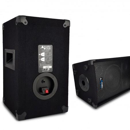 """Paire d'enceintes Sono Bass Reflex Trapézoïdal à 3 voies 8""""/20cm - 2 x 300W - AUDIO CLUB 08"""