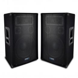 """Paire d'enceintes Sono Bass Reflex Trapézoïdal à 3 voies 10""""/25cm - 2 x 400W - AUDIO CLUB 10"""