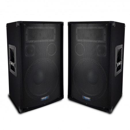 """Pair of speakers Sound Bass Reflex Trapezoidal 3-way 10 """"/ 25cm - 2 x 400W - AUDIO CLUB 10"""