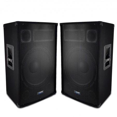 """Pair of speakers Sound Bass Reflex Trapezoidal 3-way 12 """"/ 30cm - 2 x 600W - AUDIO CLUB 12"""