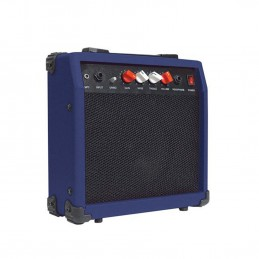 "Amplificateur ultra-portable de guitare bleu 20W/6,5"" - 4 Ohms - Johnny Brooks"