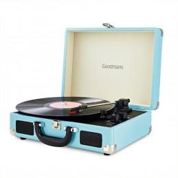 Tourne Disque Retro bluetooth BLEU - GOODMANS - 33/45/78