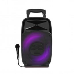 Enceinte IDANCE GROOVE 220 Bass REFLEX de 100W - Lecteur USB, Bluetooth - Autonome sur batterie - LED RVB dans le woofer