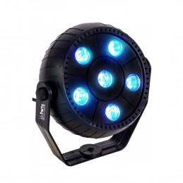 Jeu de lumière Party Sound & Light PAR LED pour Soirée Animation - 6 LED RVB 3en1 - Mode Auto - commandé par la musique
