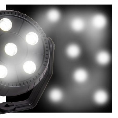 Jeu de lumière Party Sound & Light PAR STROBE pour Soirée - 6 LED blanches 1.5W - Mode Auto - commandé par la musique