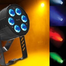 Projecteur AFX Light PARLED615 RGBAW DMX 5 Couleurs en 1 - Télécommande