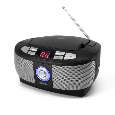 Chaine Hi-Fi NOIR BoomBox - CD-R / CD-RW / RADIO FM - Afficheur LCD avec rétroéclairage
