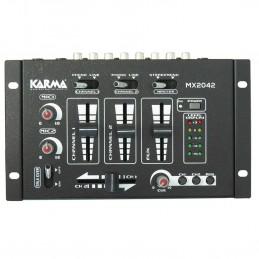 Table de mixage stéréo KARMA MX 2042 - 6 entrées