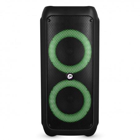 """Enceinte Active - FestiSound SKV206 - 6.5"""" 2x16cm - 300W - sur Batterie - Effet RING LED - USB SD Bluetooth TWS - Micro"""