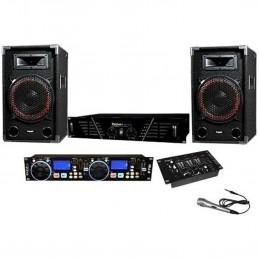 Pack Sono DJ numérique complet avec mico DJ-501-N