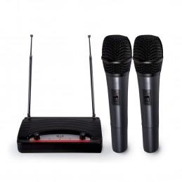 2 wireless microphones,...