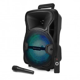 "Enceinte Active - KoolStar SPACER08 karaoke autonome batterie 8"" - 200W - USB/BT/SD + Micro + Tel"