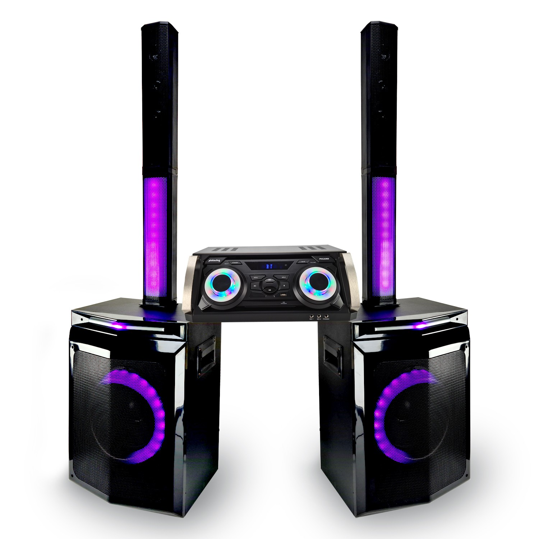 Pack Enceinte Pickering 2260 Satellites + Caissons de basse + Amplificateur Idéal DJ, Disco Mobile, Karaoké