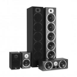 Ensemble Hifi/Home-Cinéma - Evidence Acoustics EA1240-BK - 5 enceintes Bass Reflex  - 1240W