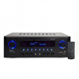 Amplificateur HIFI - Evidence Acoustics EA-5160-BT - STEREO 5.1 KARAOKE 2x50W + 3x20W - Entrée USB SD AUX DVD FM