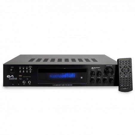 Stereo Amplifier - Evidence Acoustics EA-7360-BT - Karaoke 5.2 / USB SD FM BT - 4 + 3 x75W x20W