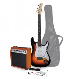 Kit guitare électrique - Johnny Brook JB406 Finition Sunburst - avec amplificateur 20W