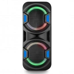 Mega Enceinte Active/ Amplifiée - FestiSound FESTI215-1000W /-Autonome sur Batterie BT/USB/SD - Micro fil / sans fil - Noir