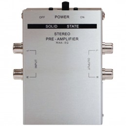 Pré-Amplificateur Phono E-Audio A097M - Stéréo - permet de connecter une platine vinyle à un système Hi-Fi