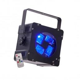 Jeu de lumière - Ibiza Light HYPNO40-LED - EFFET DE LUMIERE PSYCHEDELIQUE 4 LED CREE 4-EN-1 DE 10W RGBW