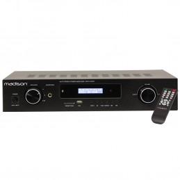 Amplificateur HI-FI - Madison MAD1400BT-BK - Stéréo 2x100W RMS - BLUETOOTH - Lecteurs USB-SD - NOIR
