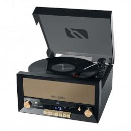 Système Chaîne Hifi CD 20W avec platine Vinyle - CD/FM/USB/AUX - 33/45/78 tours