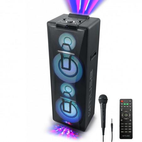 Enceinte M-1990 DJ à LED Party box double bluetooth + Micro - BT/CD/AUX/USB - 1000W