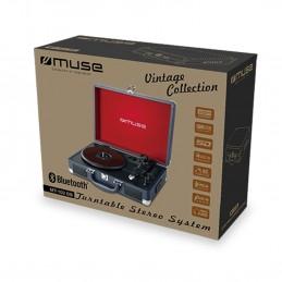 Platine vinyle stéréo 33/45/78 tours avec enceintes intégrées - USB/SD/AUX - Prise casque