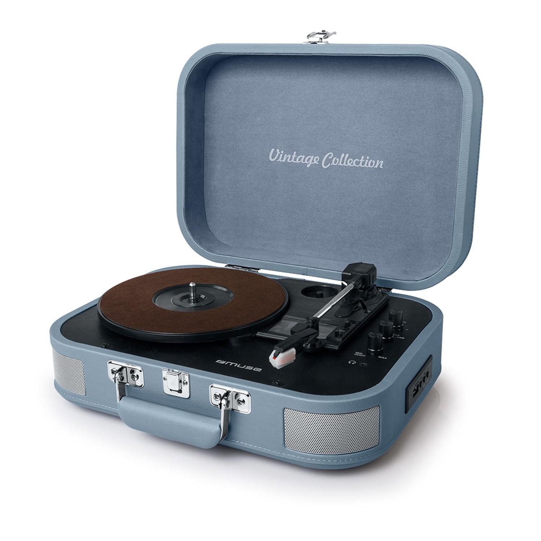 Platine vinyle stéréo bleue 33/45/78 trs