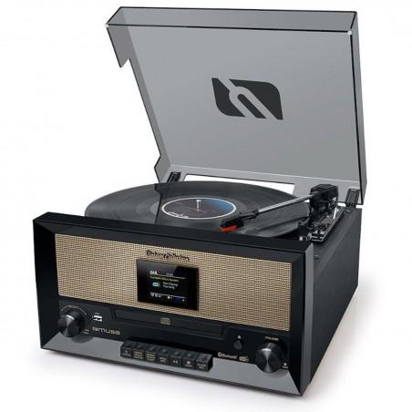 Système chaîne Hifi et platine Vinyle avec écran TFT - CD/USB/AUX/FM/DAB/DAB+ - 33/45/78 tours