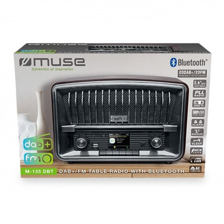 Radio de table DAB+/FM avec bluetooth - Ecran couleur - 10W - FM/DAB+/USB/AUX/BT