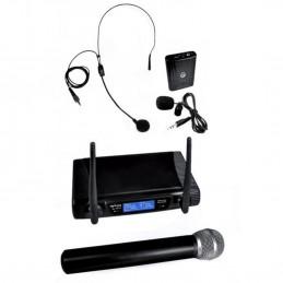 Pack MYDEEJAY VHF 02 V2  micro VHF à main sans fil + serre tête + carate