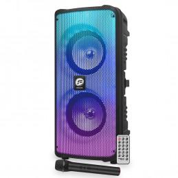 Enceinte Autonome FestiSound VENICE26 sur Batterie Micro et Télécommande - LED RVB - 300 Watts-- USB/BT/AUX/SD