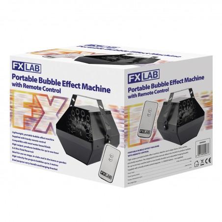 Machine à Bulle Portable FXLAB  avec Télécommande- 0.6L  - Idéal pour une utilisation sur scène, Dans la maison ou le jardin