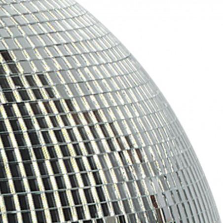 Boule à Facettes Argentée 50cm FXLab avec deux points de suspension - Matériau Léger - Mirroir Poli