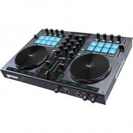 Gemini G2V 2ch - Contrôleur DJ MIDI / USB - avec carte son + Logiciel Virtual DJ et VCASE