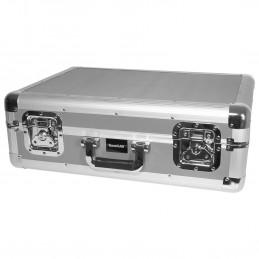 Valise de Transport/Rangement Silver pour 150 CD avec Couvercle Amovible - SoundLab G073DA