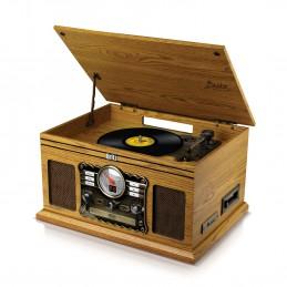 Tourne-Disque - Britz BZ-TP070 - 2x50W- 33/45/78 Tours - USB SD / Bluetooth RADIO FM / Lecteur CD/Casette  - 2 HP Stéréo - Bois