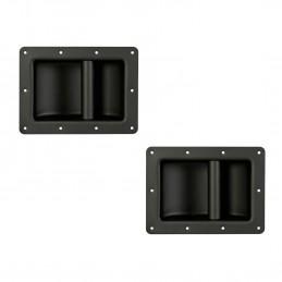 Lot de 2 poignées robustes pour enceintes, Noir, Métallique, Dimensions 220 x 160 mm