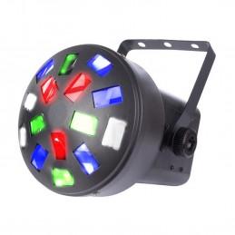 Jeu de lumière mini mushroom à led, 6 x 3 W RGBWA